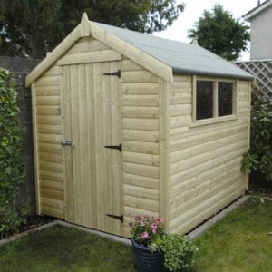 8 by 6 Pressure Treated Timber Shed