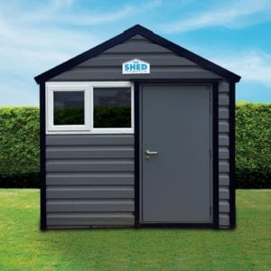 Antracite grey Steel Shed