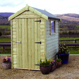 6 by 4 Pressure Treated Shed