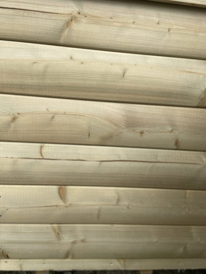 Pressure treated shed exterior finish